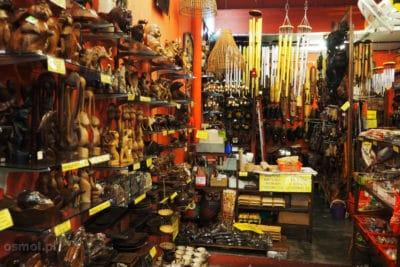 Sklep z pamiątkami dla turystów w Malakce