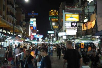 Khao San Road w Bangkoku