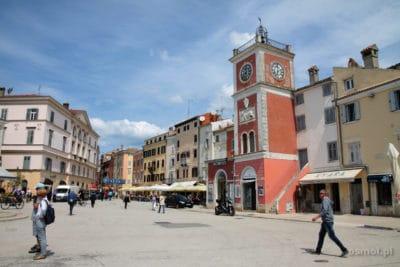 Plac w Rovinj w Chorwacji