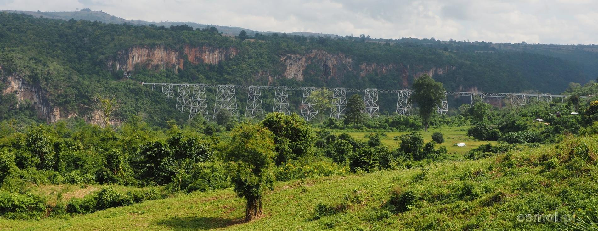 wiadukt w Gokteik w Birmie