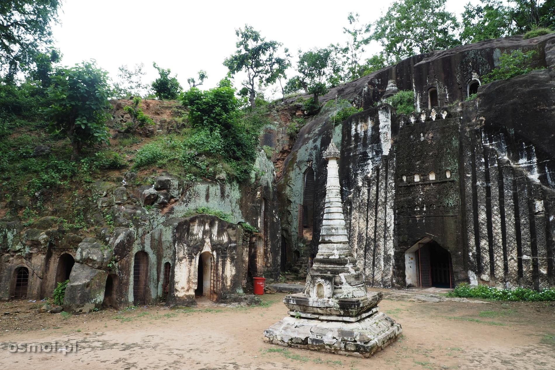 Skalne groty Pho Win Daung w Birmie