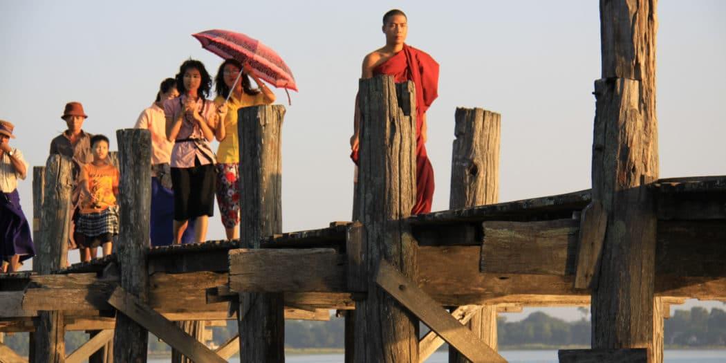 Most U Bein w Birmie. Amarapura