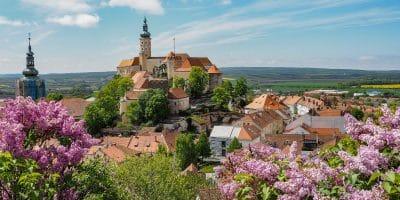 Panorama Mikulova w Czechach