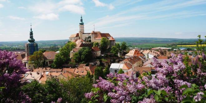 Panorama Mikulova Czechy