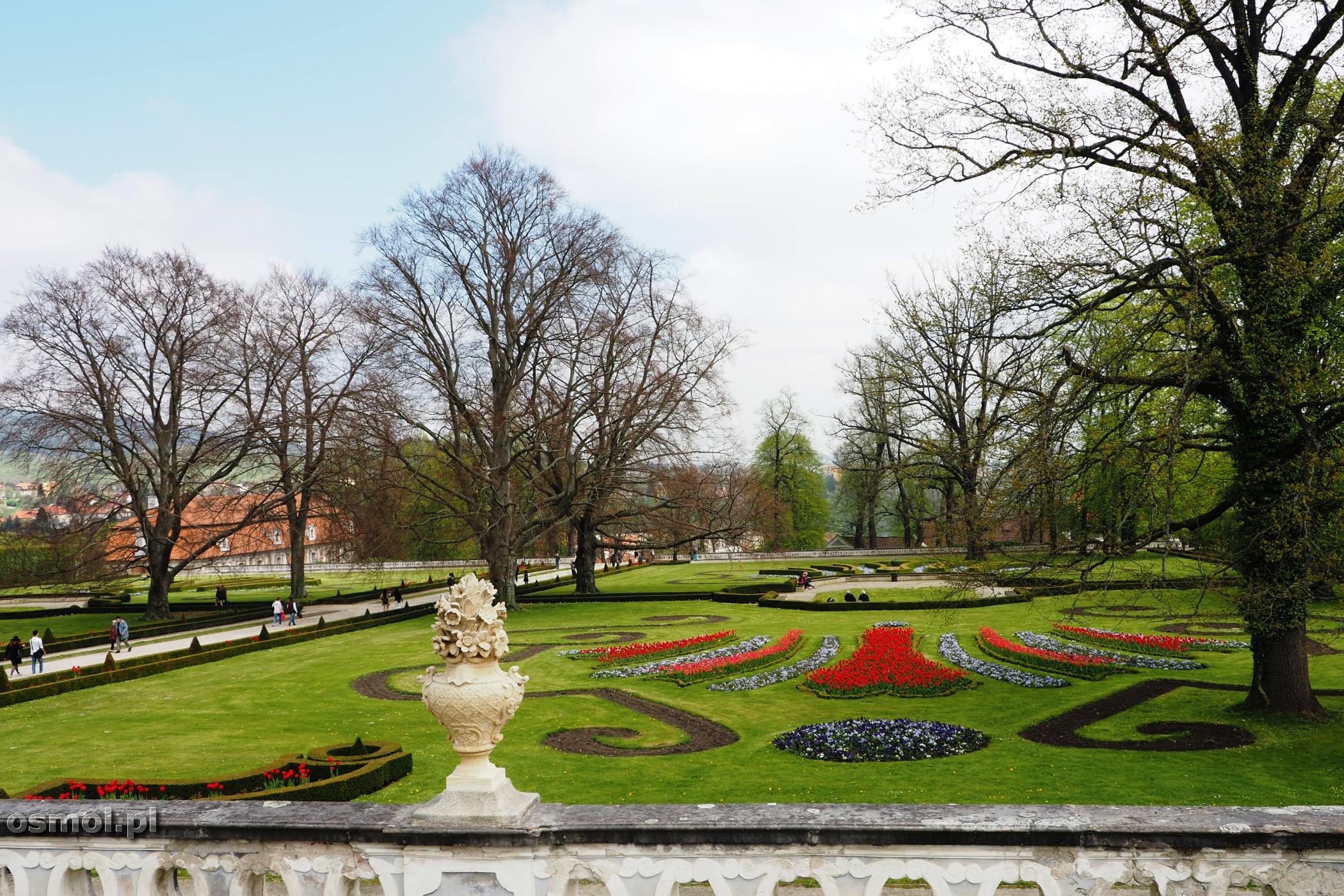 Ogród zamkowy w Czeskim Krumlovie