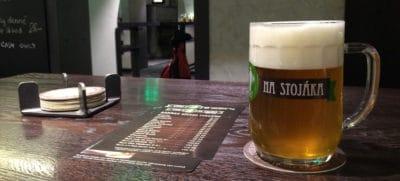 Piwo w Wycep na stojaka Brno