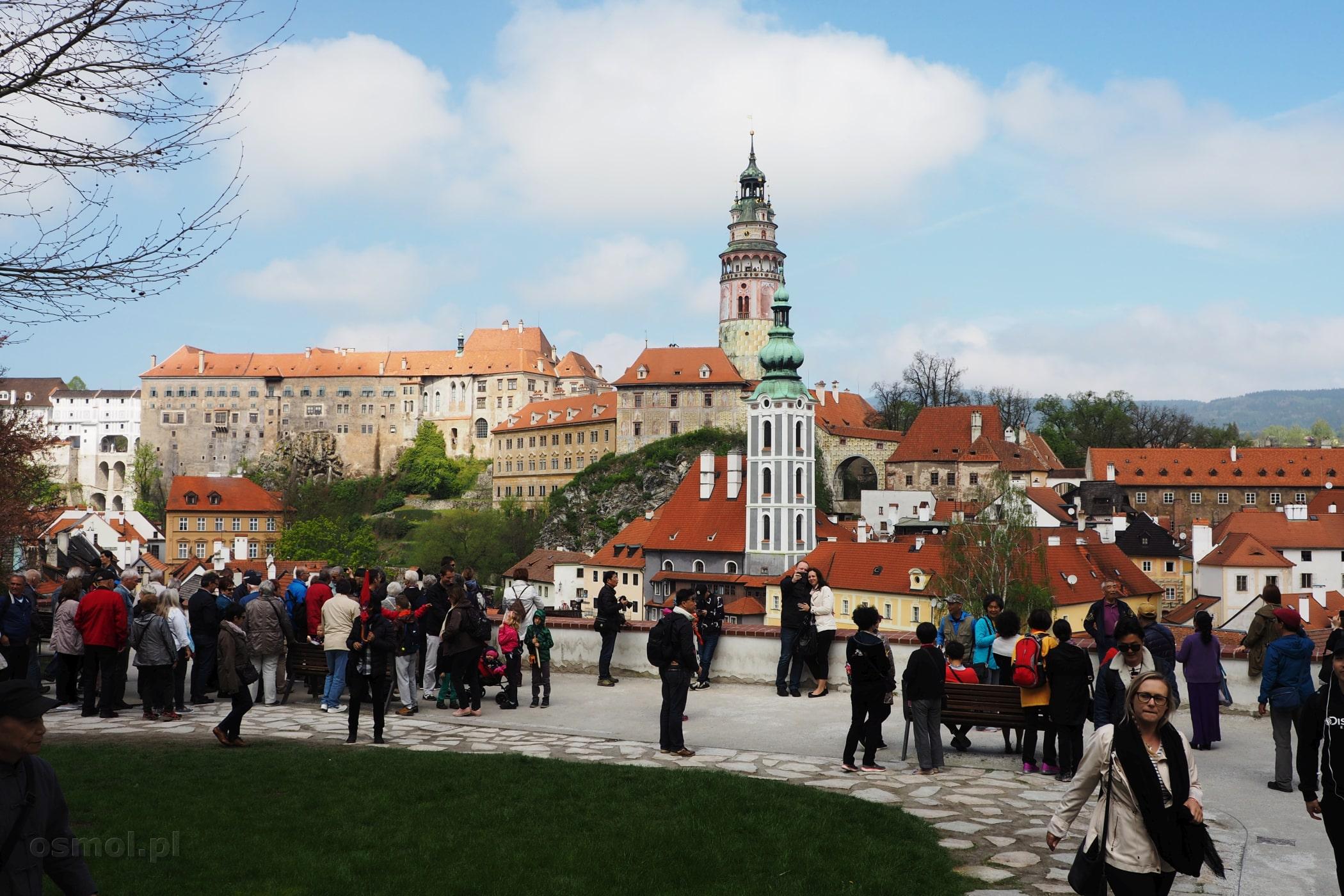 Panorama Czeskiego Krumlova - widok na zamek