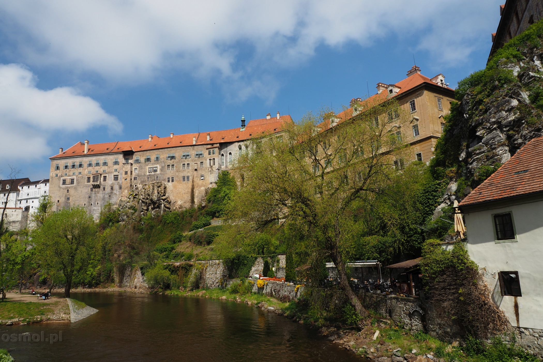 Czeski Krumlov. Zamek nad Wełtawą