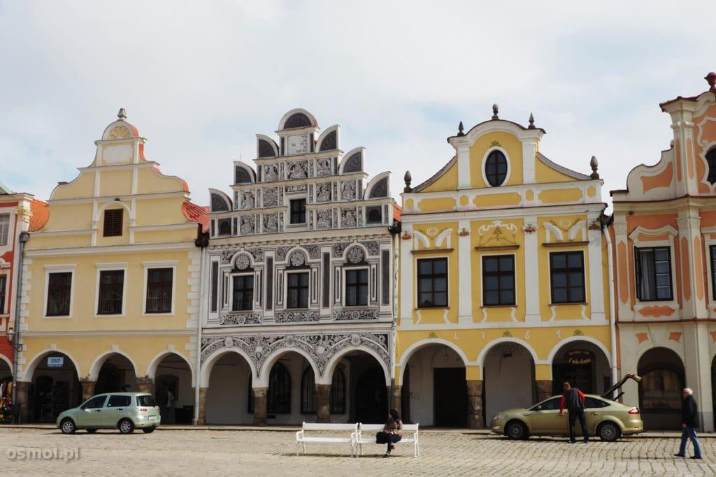 Kamienice w Telczu w Czechach