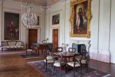 Pokój z pałacu w Lednicach w Czechach
