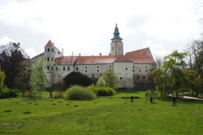 Zamek w Telczu widziany od strony ogrodów