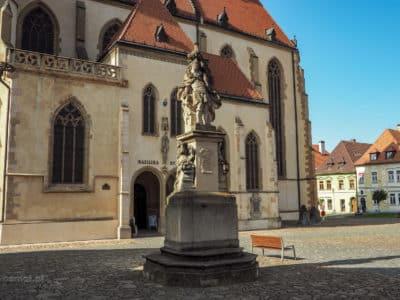 Pomnik na rynku w Bardejovie