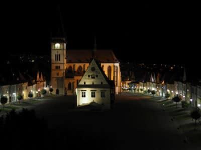 Rynek w Bardejovie nocą