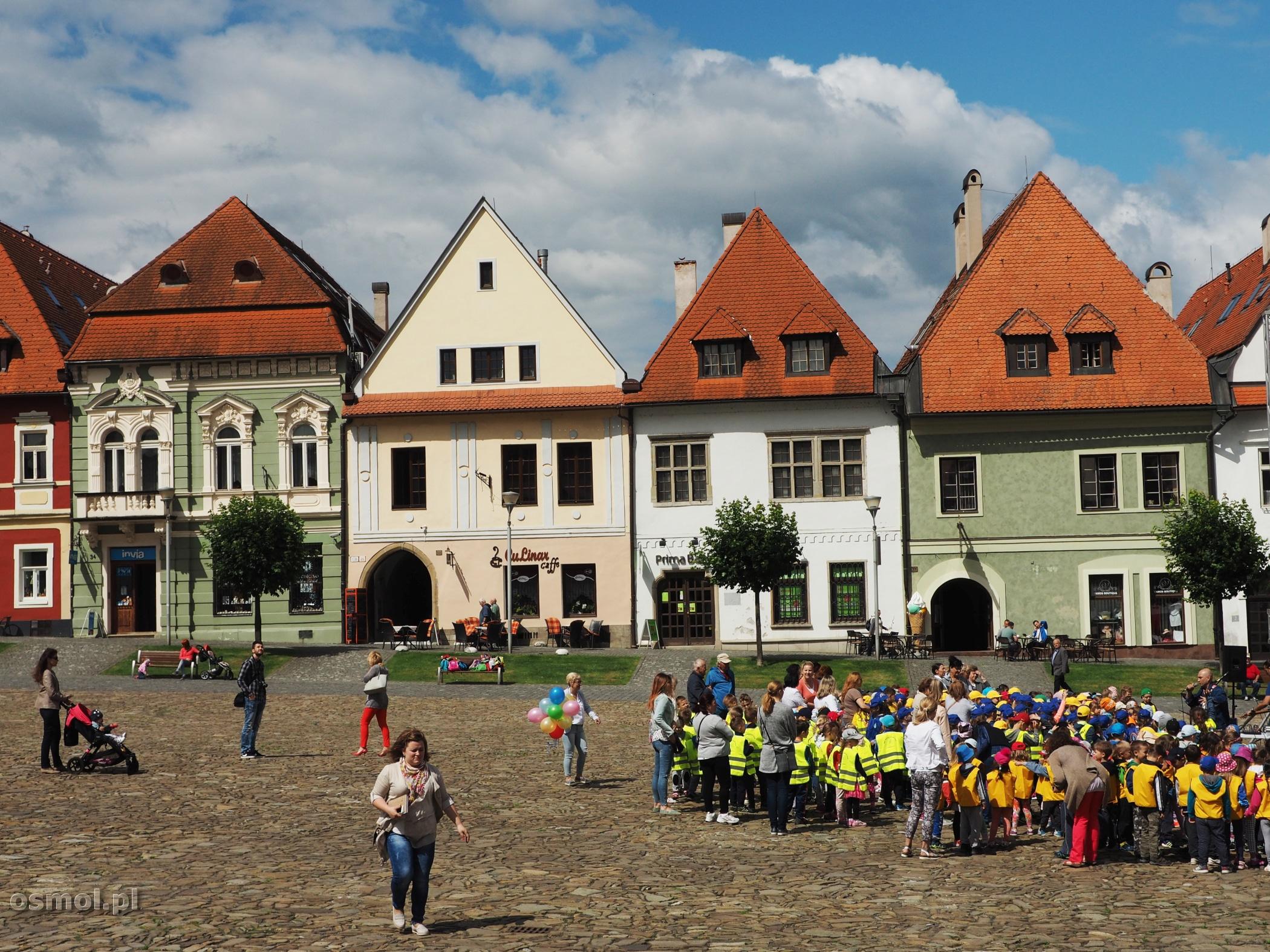 festyn dla dzieci na rynku w Bardejovie