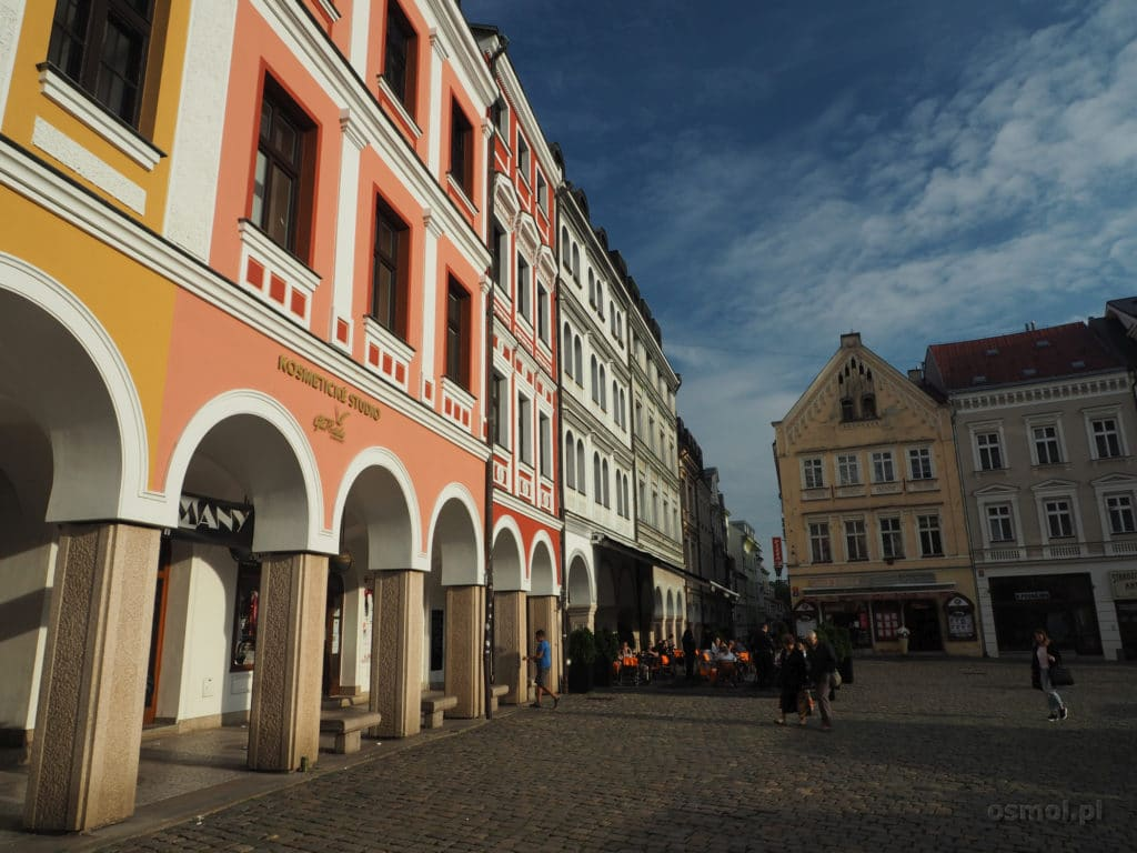 Podcienia na rynku w Libercu - Czechy