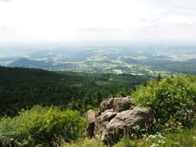 Widok z góry Jested na góry Izerskie