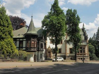 Czechy LIberec - jedna z willi w mieście
