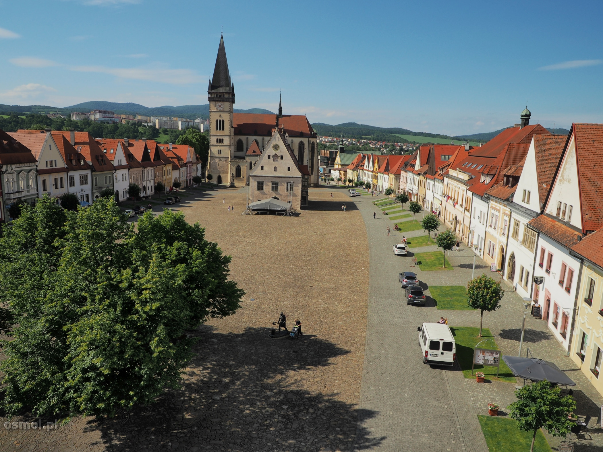 Rynek w Bardejovie Słowacja