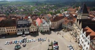Tabor w Czechach. Widok z wieży kościoła