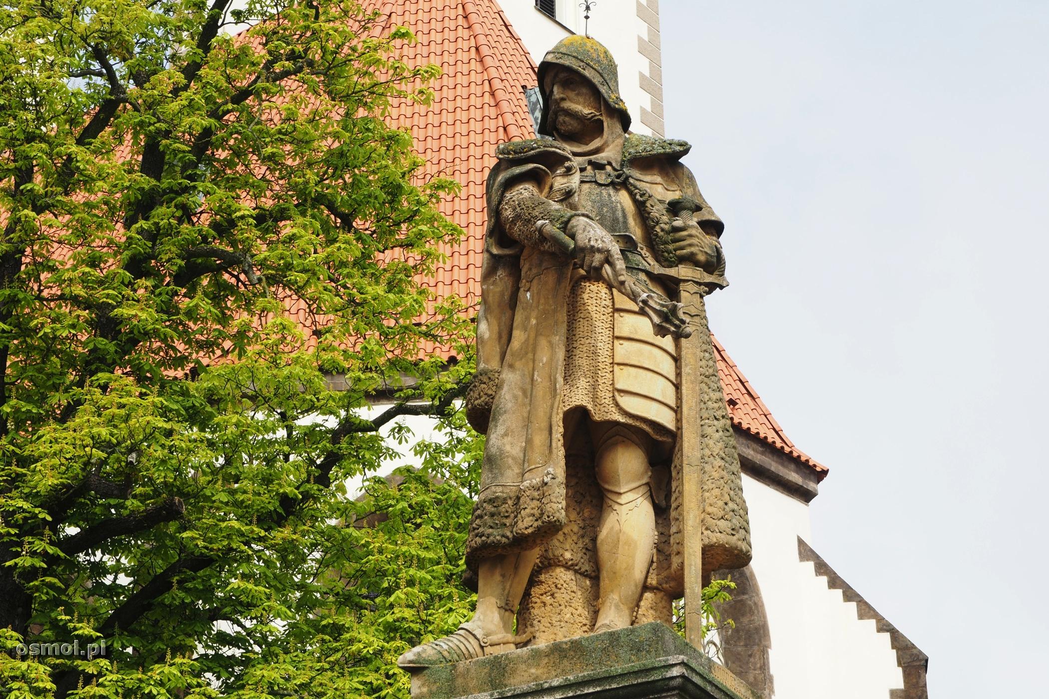Pomnik Jana Żiżki na rynku w Taborze. Czechy