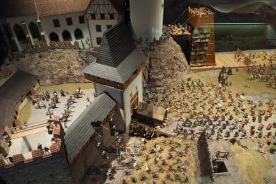 Makieta oblężenia zamku Tabor