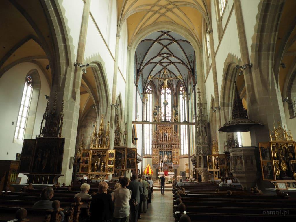 Wnętrze kościoła św. Idziego w Bardejovie