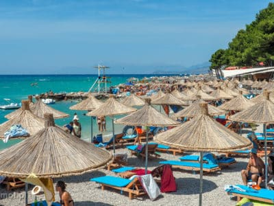 Plaża w Ksamilu Albania