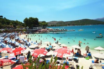Plaża w Ksamilu - Riwiera Albańska