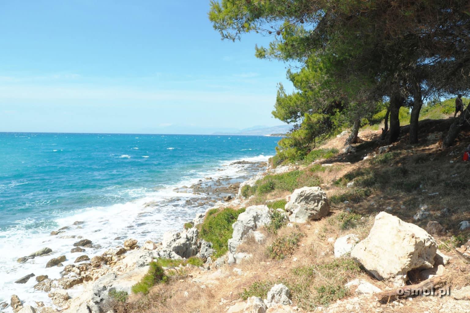 Wybrzeże dalej od plaży