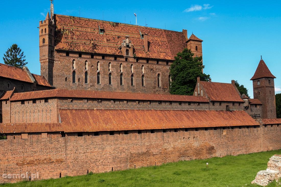 Ceglane mury zamku krzyżackiego w Malborku