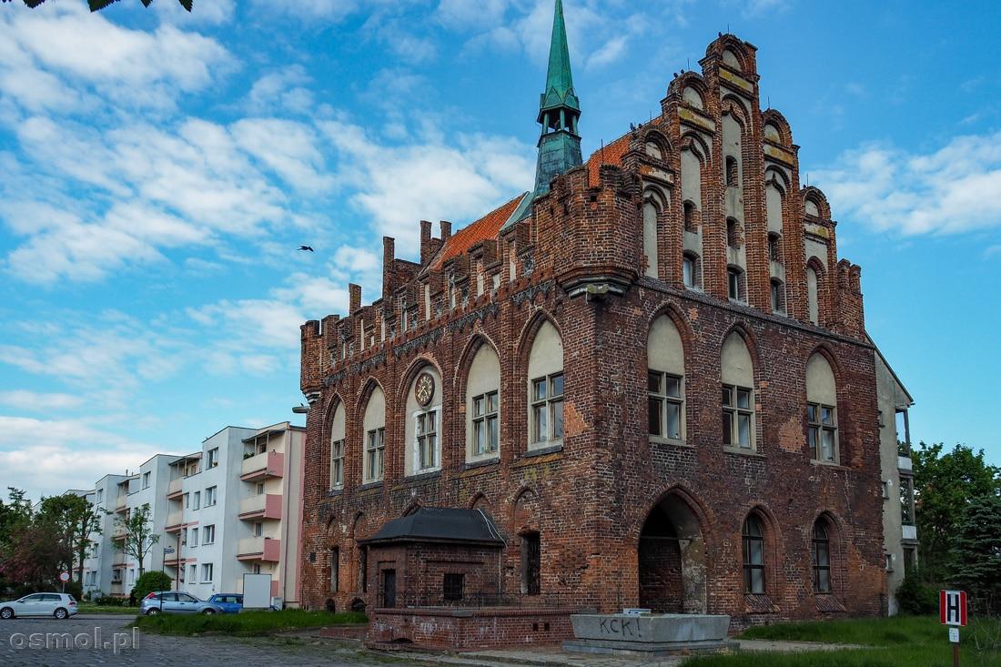 Stary ratusz w Malborku. Jedna z nielicznych budowli, która z dawnego Malborka przetrwała do naszych czasów