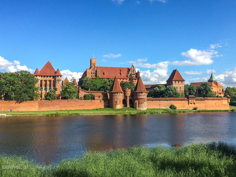 Zamek krzyżacki w Malborku od strony Nogatu