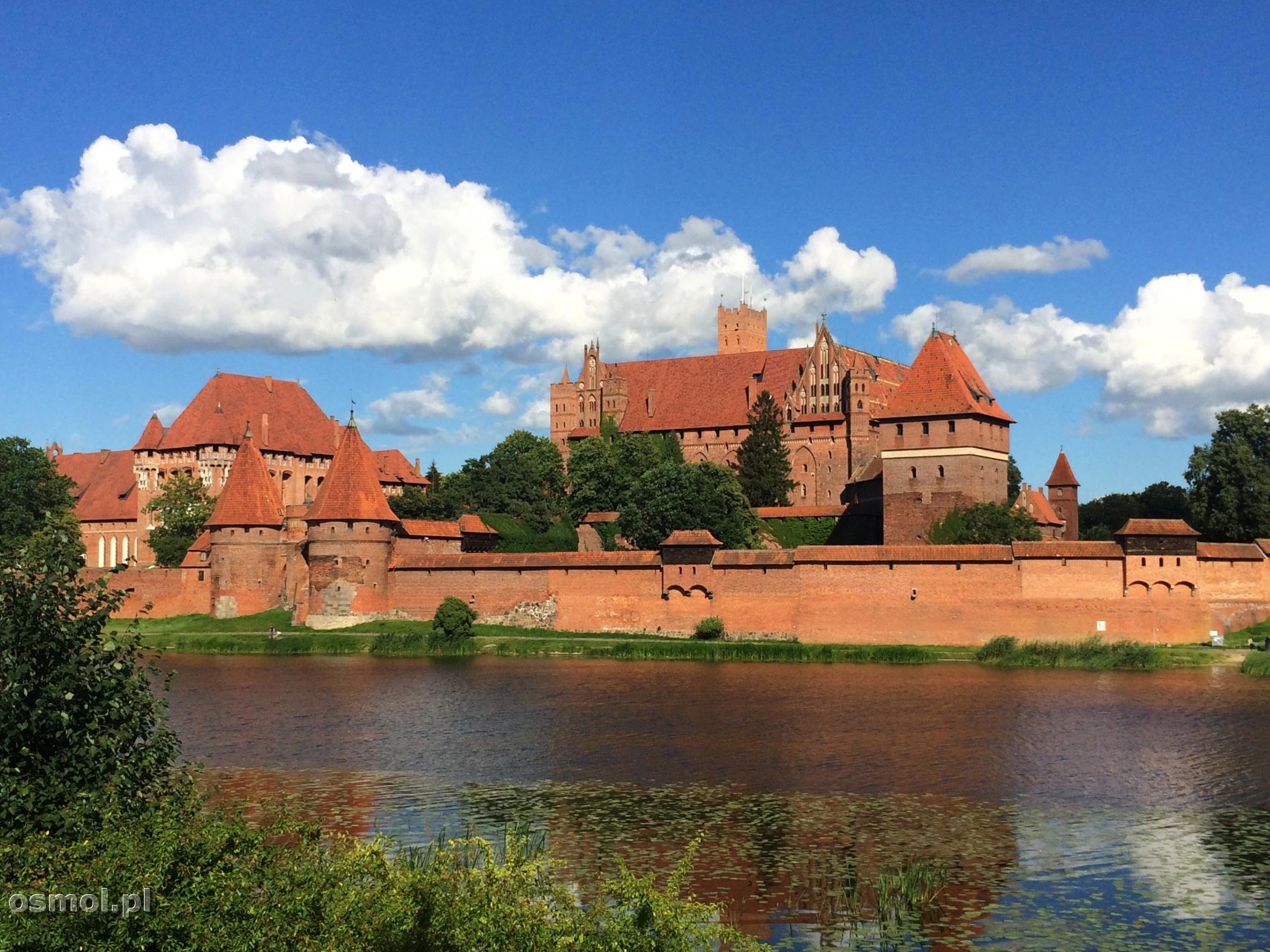 Zamek w Malborku od strony Nogatu