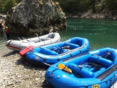 Pontony do raftingu po Tarze w Czarnogórze