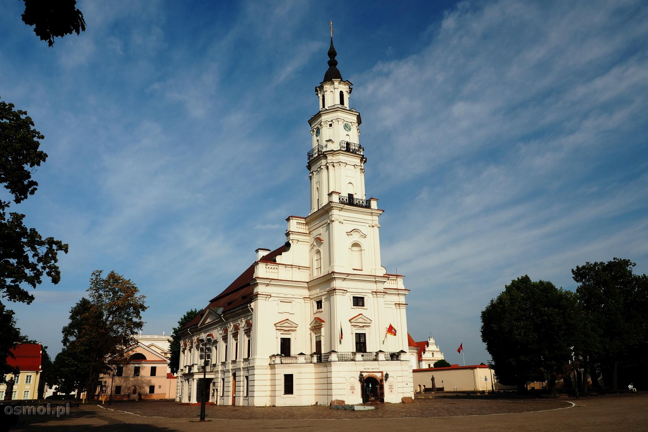 Ratusz w Kownie - z uwagi na kształt mieszkańcy zwą go Białym Łabędziem