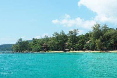 Widok ze statku na Koh Rong