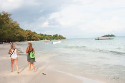 Na plaży w Koh Touch nie ma tłumów