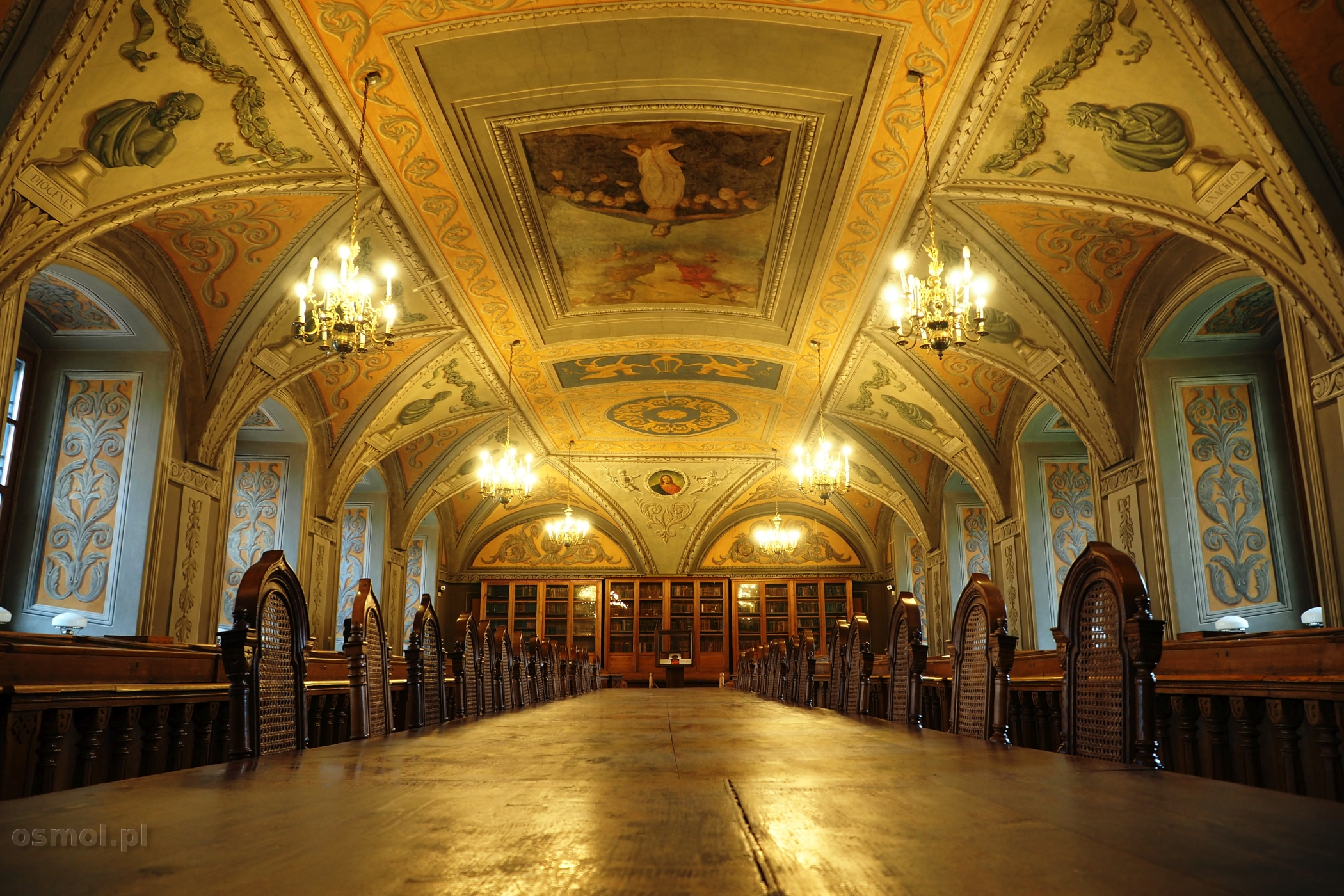 Wilno sala Franciszka Smuglewicza w bibliotece uniwersytetu