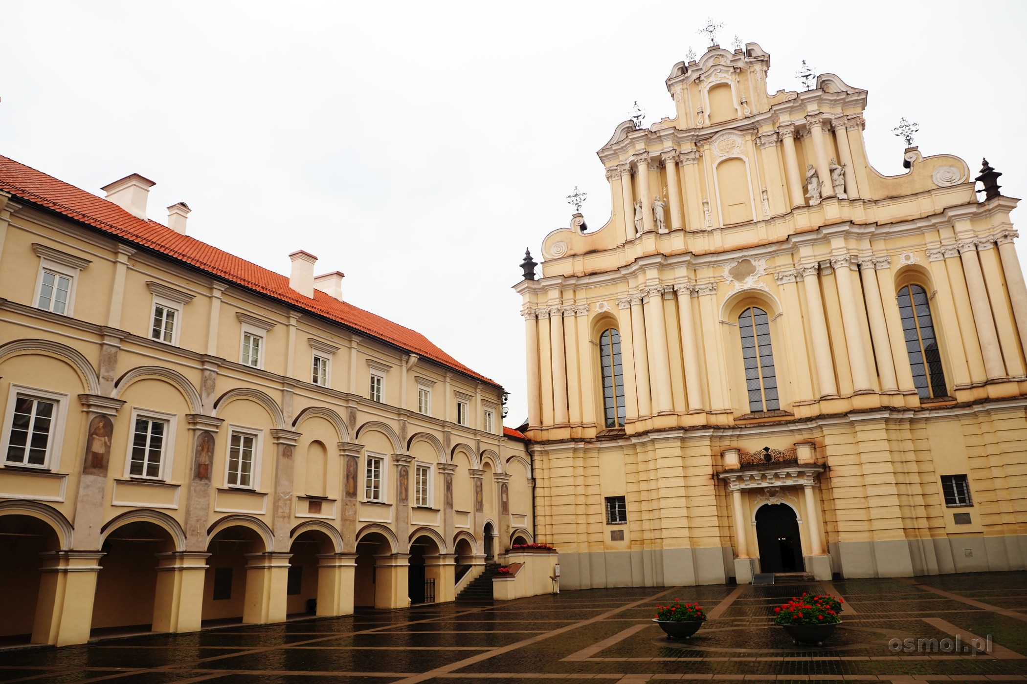 Główny dziedziniec na Uniwersytecie Wileńskim
