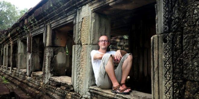 W jednej ze świątyń Angkoru