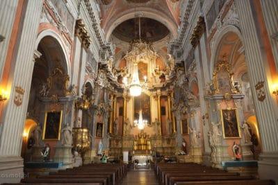 Wnętrze kościoła - Wilno