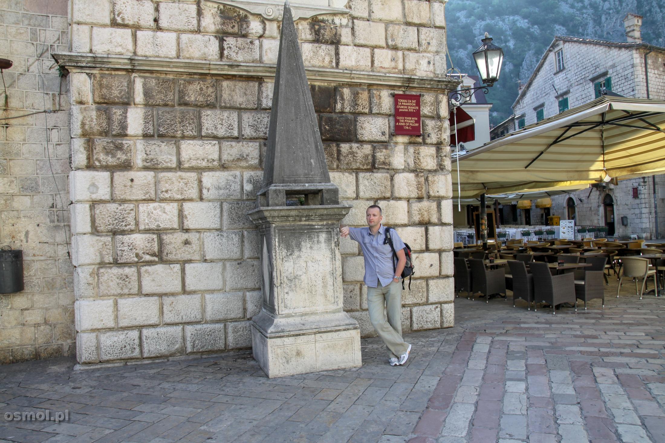Pręgierz miejski w Kotorze