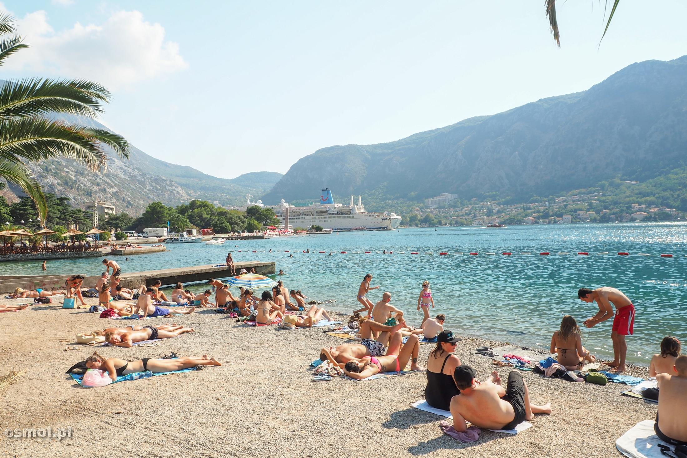 Plaża w Kotorze