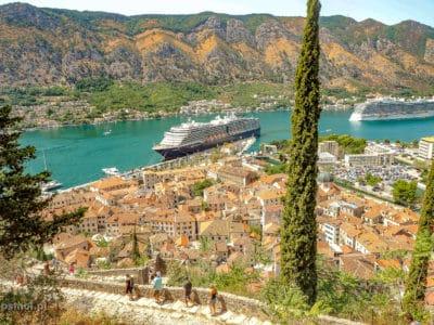 Widok na Kotor Czarnogóra