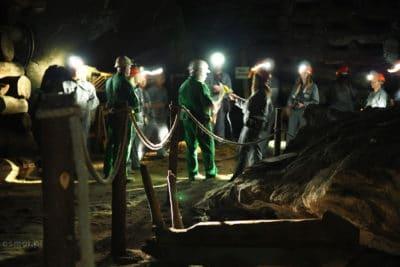 Komora na trasie górniczej w Wieliczce