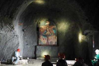 kaplica w kopalni soli w Wieliczce