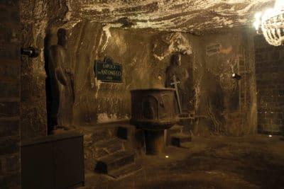 Kaplica św. Antoniego w kopalni w Wieliczce. Jedna z najstarszych w kopalni