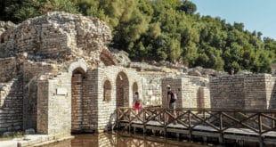 Ruiny świątyni w Butrincie Albania