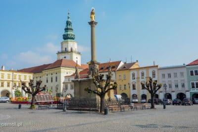Kolumna Morowa na rynku w Kromieryżu.
