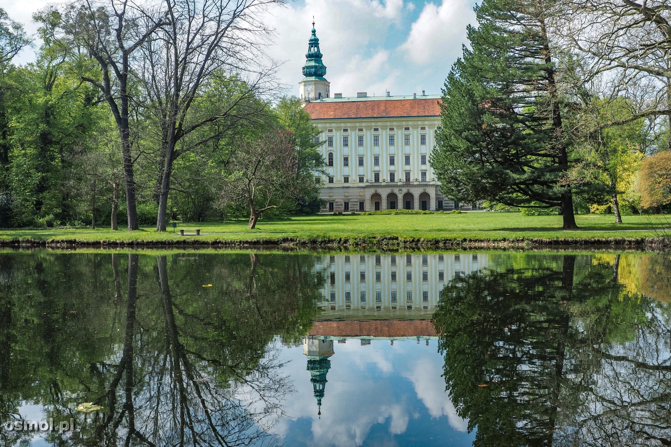 Widok na Pałac Arcybiskupi w Kromieryżu